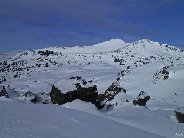 Vistes del Baciver, just al davant i ple de neu.