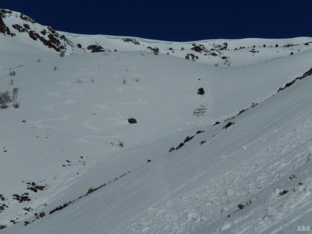 Segon tram de baixada amb neu al seu punt!