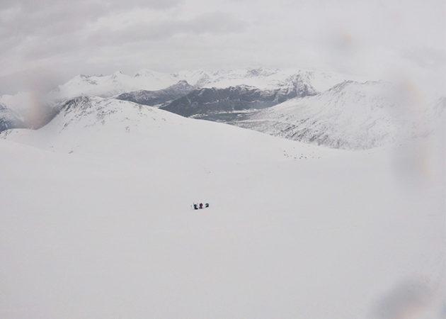El Berni, el Dani i l'Ari a sota del coll del Blånneba.