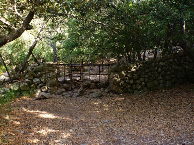 Una petita escala típica de l'illa per travessar d'una finca privada a una altra o a un terreny públic.