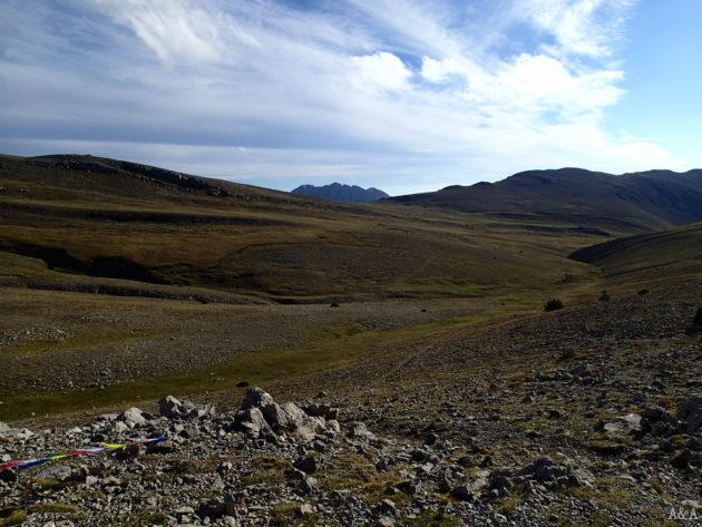 La Serra Pedregosa amb el Pedraforca sortint al fons.