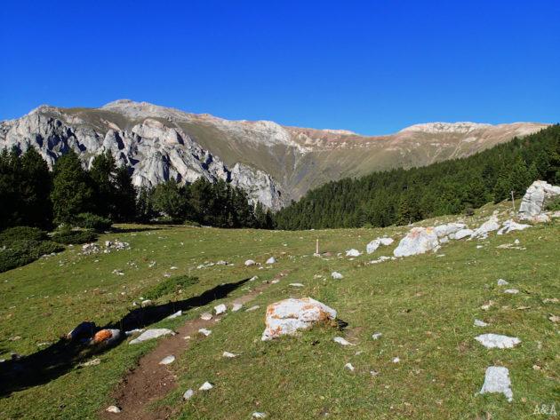 De camí a Coll de Pal amb vistes de Roques del Claper.
